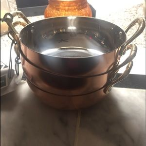 Stainless copper clad small serving skillet